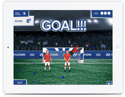 White Label Browser Game Hyundai Penalty Kick HTML5